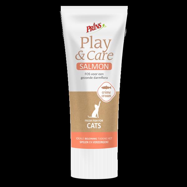 snack kucing - Prins Play & Care krim salmon