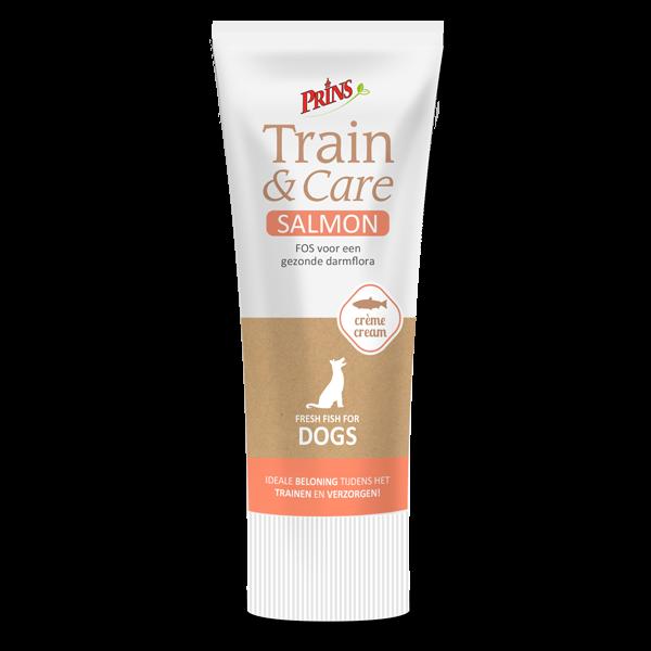 snack anjing - Prins Train & Care krim salmon