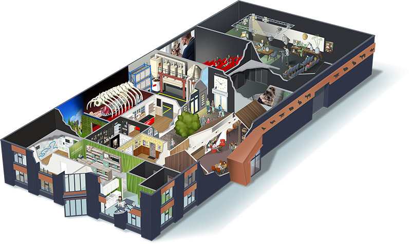 PRINS Petfoods Experience Center - 3D overview